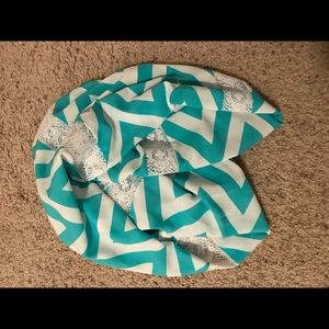 Teal Turquoise Infinity Scarf